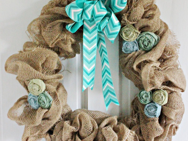 Burlap Bows For Wreaths