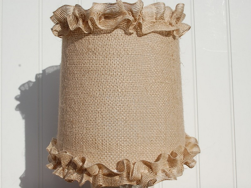 Burlap Chandelier Shades