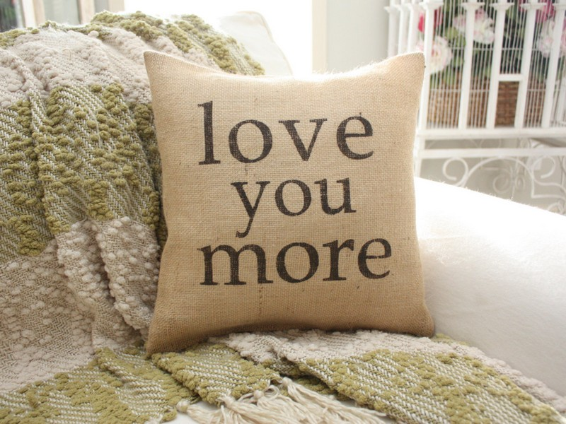 Burlap Pillows With Sayings