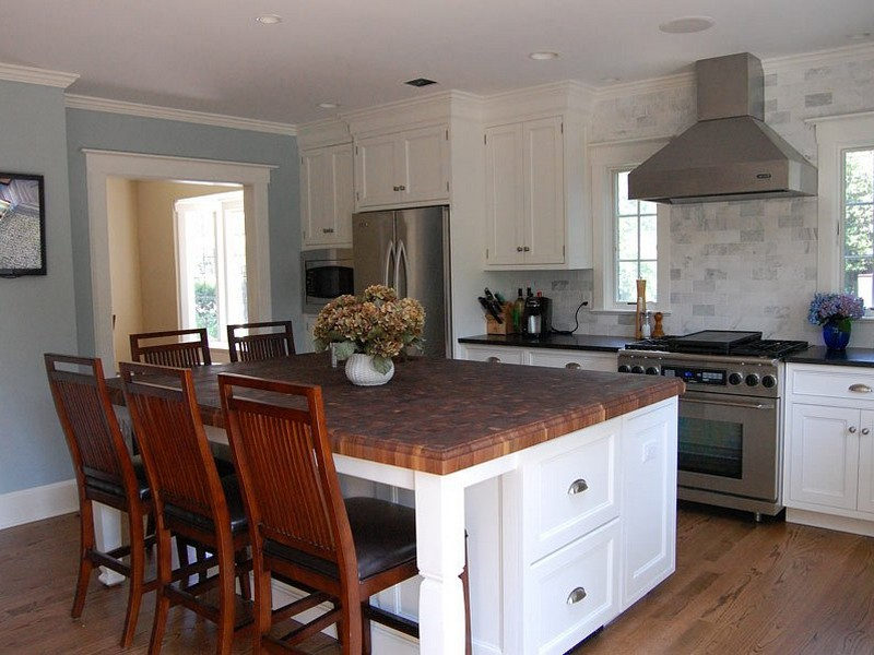Butcher Block Kitchen Islands With Seating