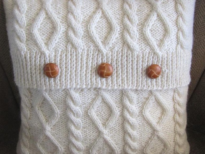 Cable Knit Pillow Cover Pattern Free
