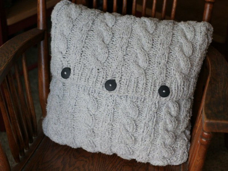 Cable Knit Pillow Cover Pattern