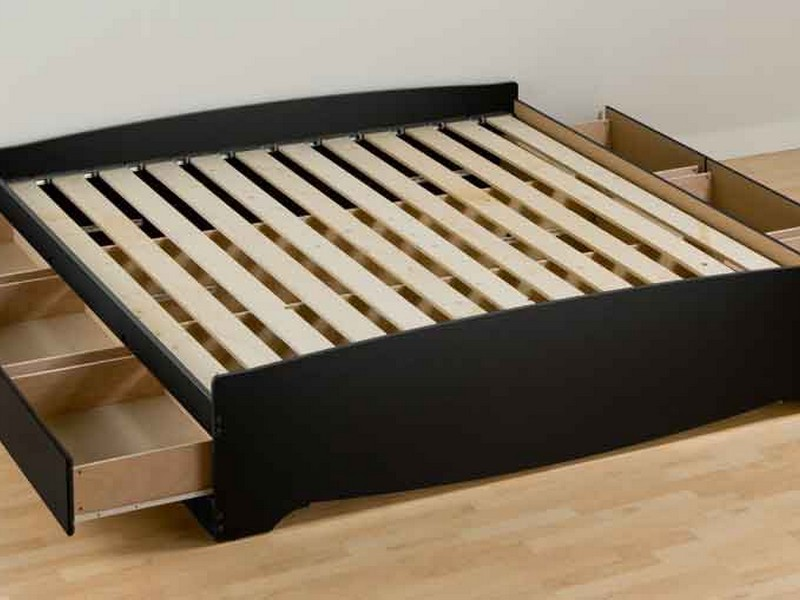 Cal King Platform Bed Frame With Storage