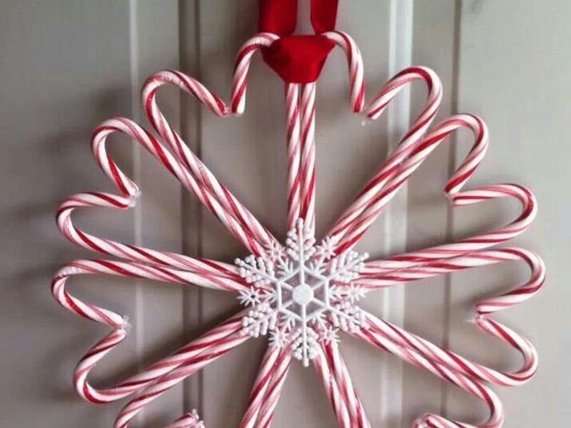 Candy Cane Wreaths Pinterest
