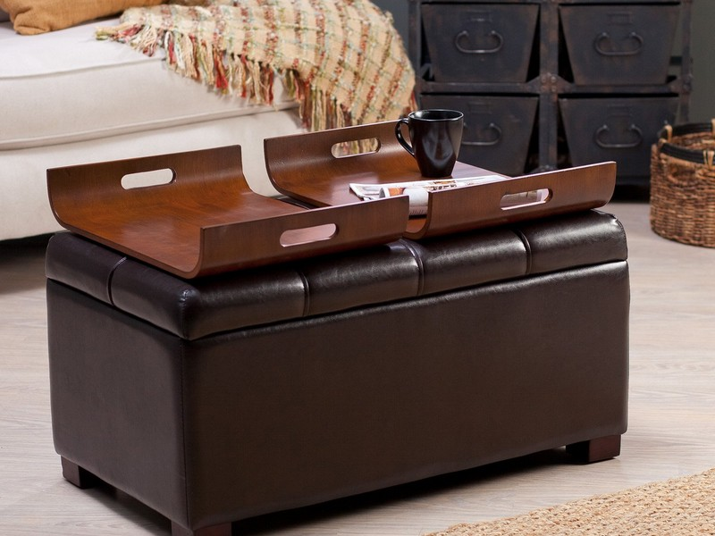 Capitol Coffee Table With Storage Ottomans