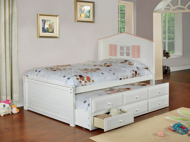 Captain Trundle Bed With Drawers