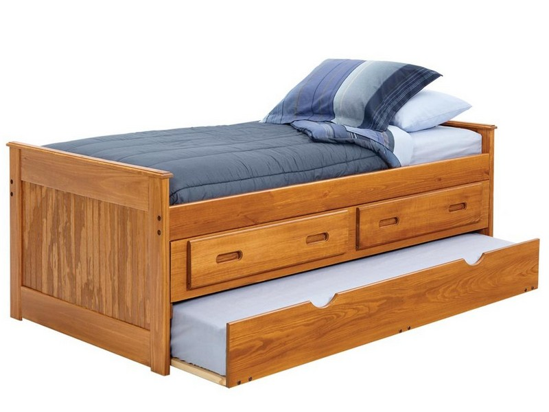 Captains Bed Twin With Bookcase Headboard