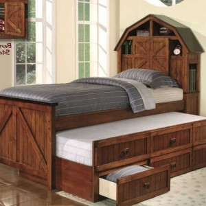 Captains Bed With Trundle And Storage