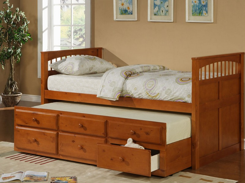 Captains Twin Bed With Storage