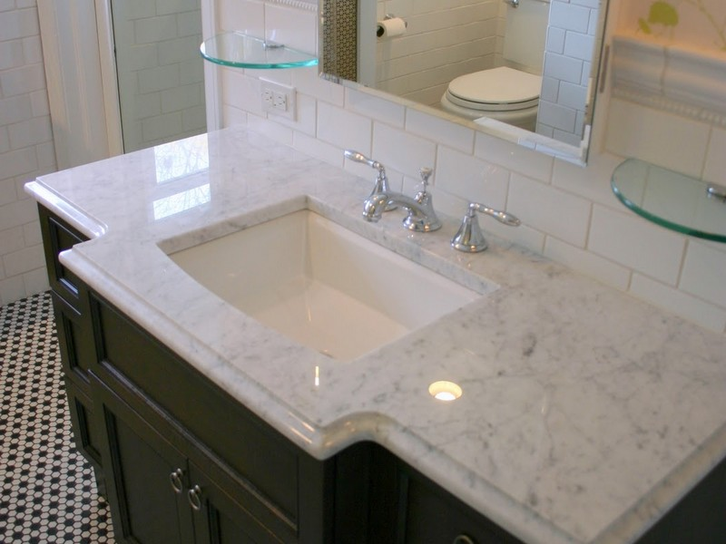 Carrara Marble Bathroom Vanity