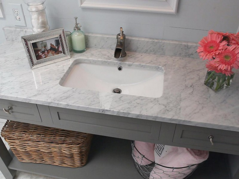 Carrera Marble Bathroom Countertops
