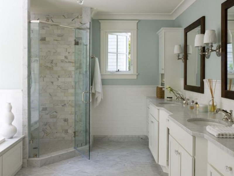 Carrera Marble Bathroom Floor