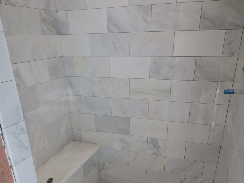 Carrera Marble Bathroom Tile