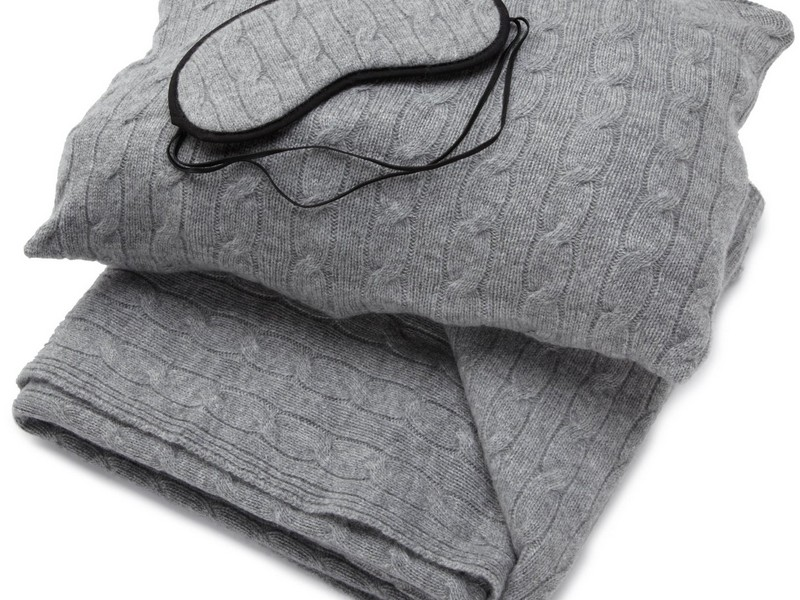 Cashmere Travel Blanket Set