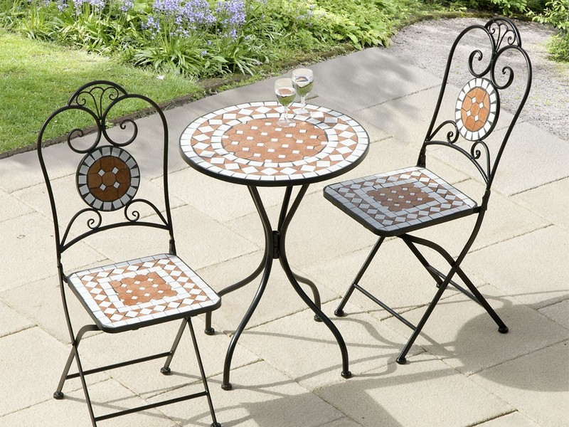 Cast Iron Bistro Set Black