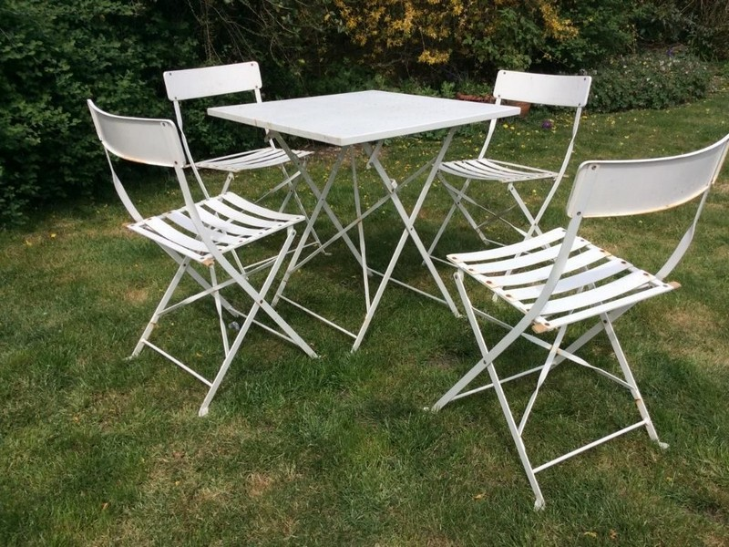 Cast Iron Bistro Set White