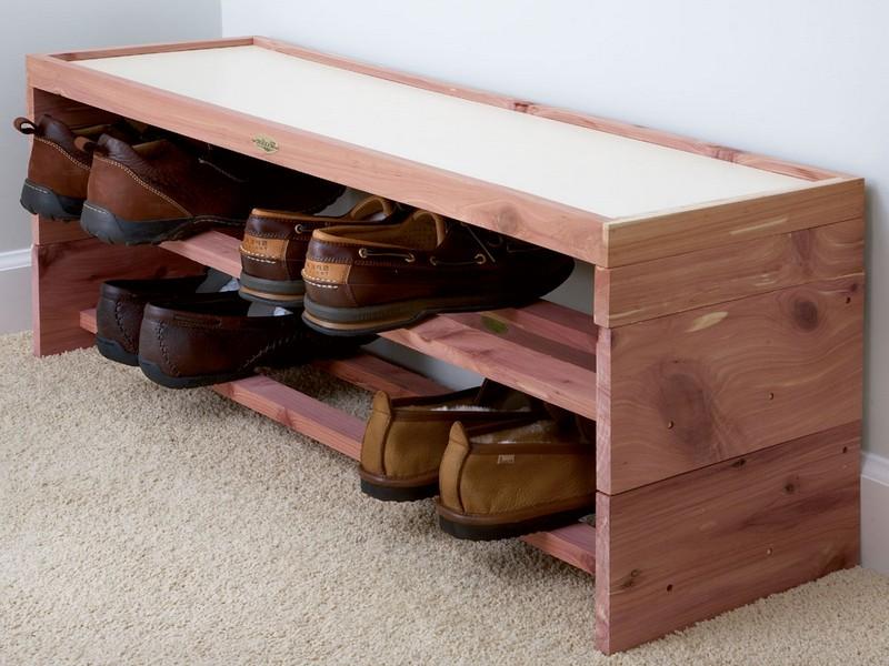 Cedar Shoe Rack