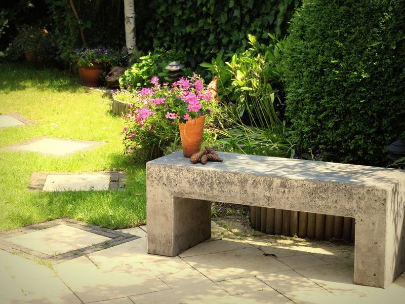 Cement Garden Bench Molds