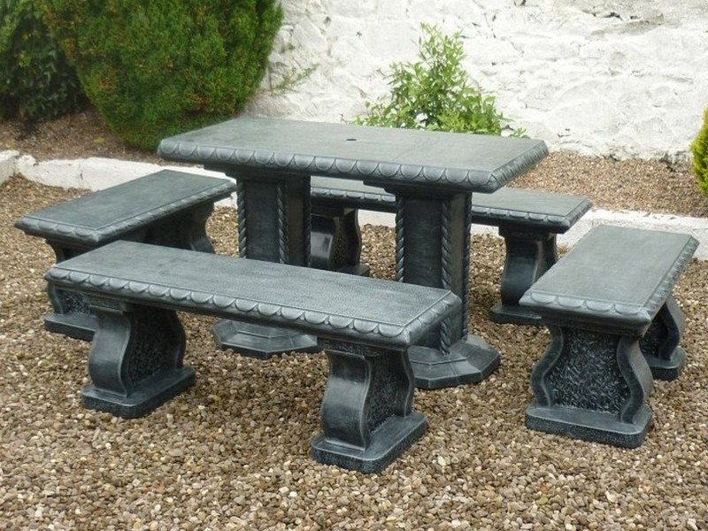 Cement Garden Table And Benches