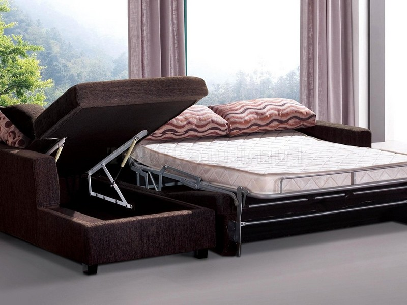 Chaise Sofa Sleeper With Storage