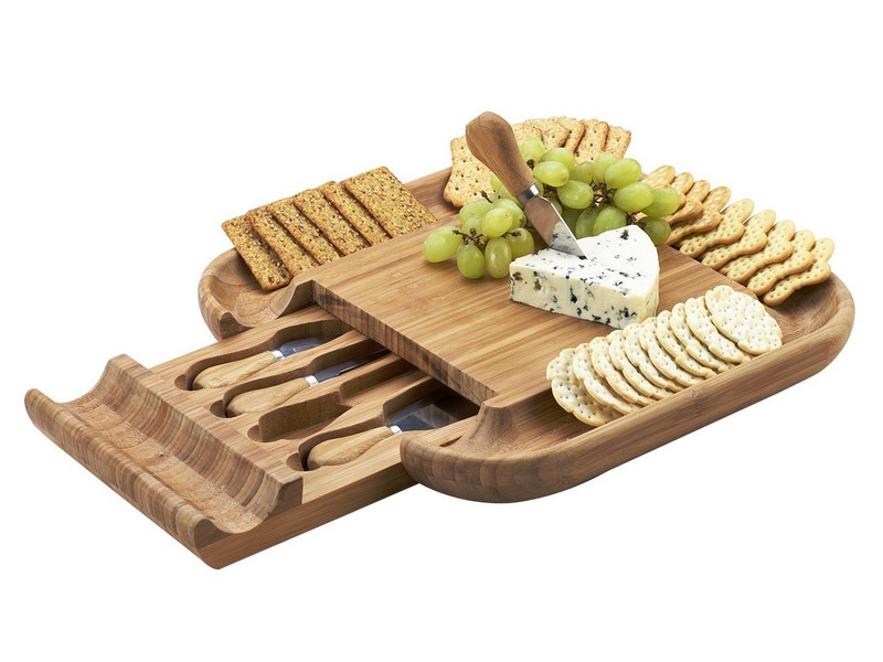Cheese Cutting Board And Knife Set