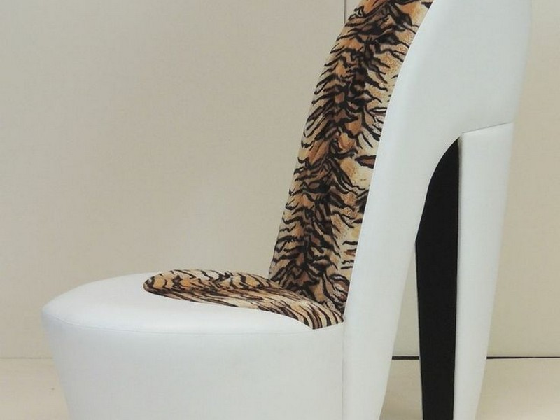 Cheetah Print High Heel Chair