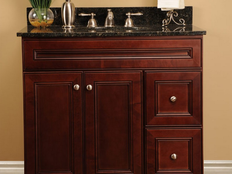 Cherry Bathroom Vanity Cabinets
