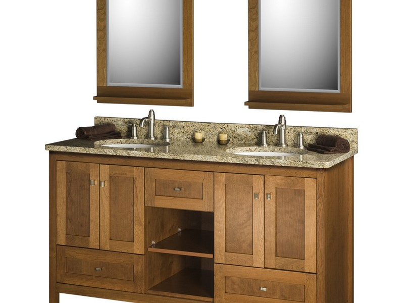 Cherry Bathroom Vanity Mirrors