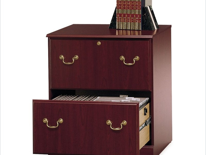 Cherry Wood Lateral File Cabinet