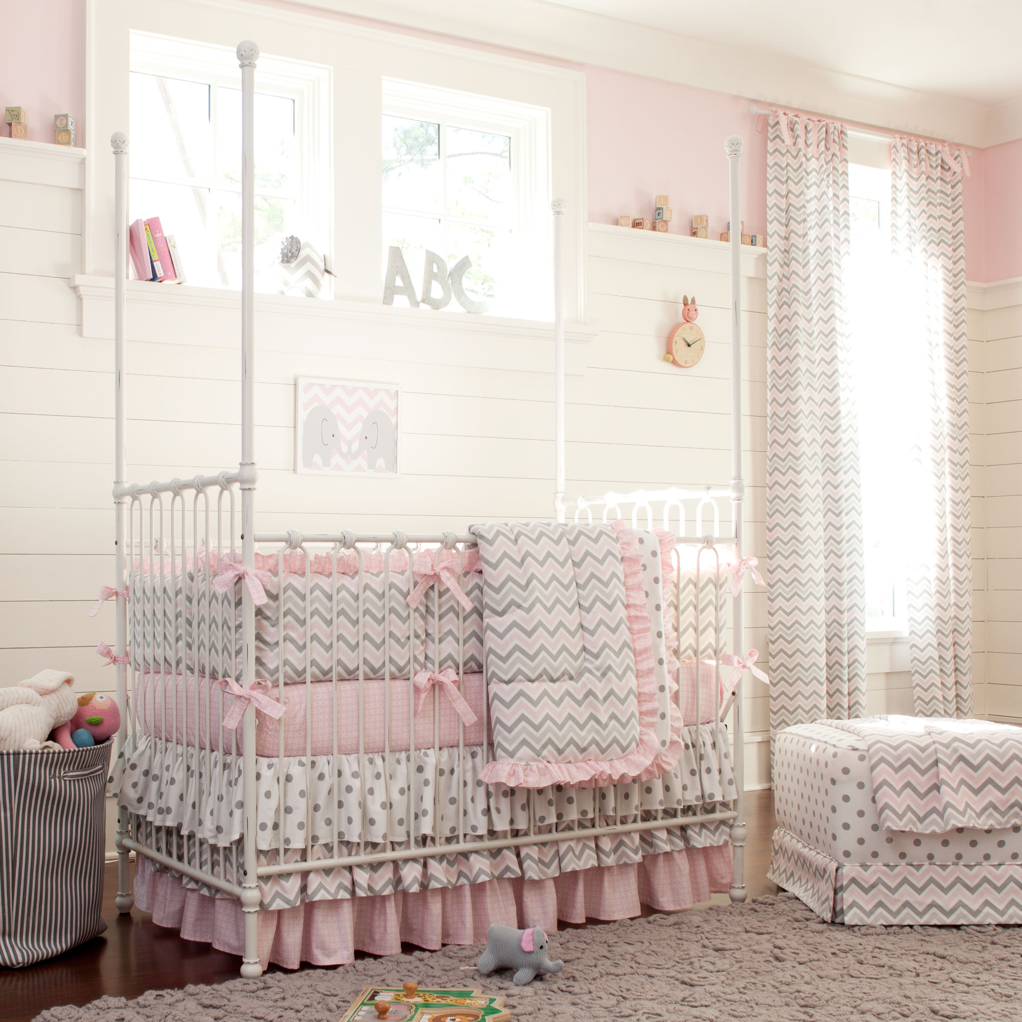 Chevron Print Baby Bedding