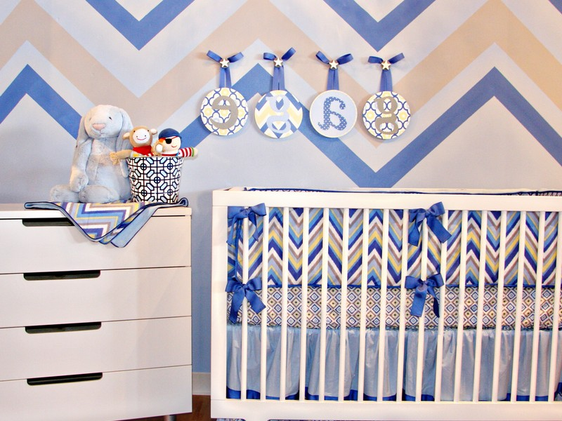 Chevron Print Nursery Bedding