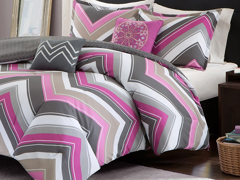Chevron Print Twin Bedding