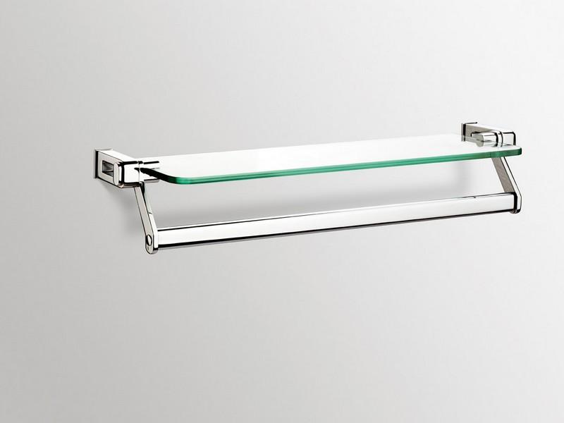 Chrome Bathroom Shelf With Towel Bar
