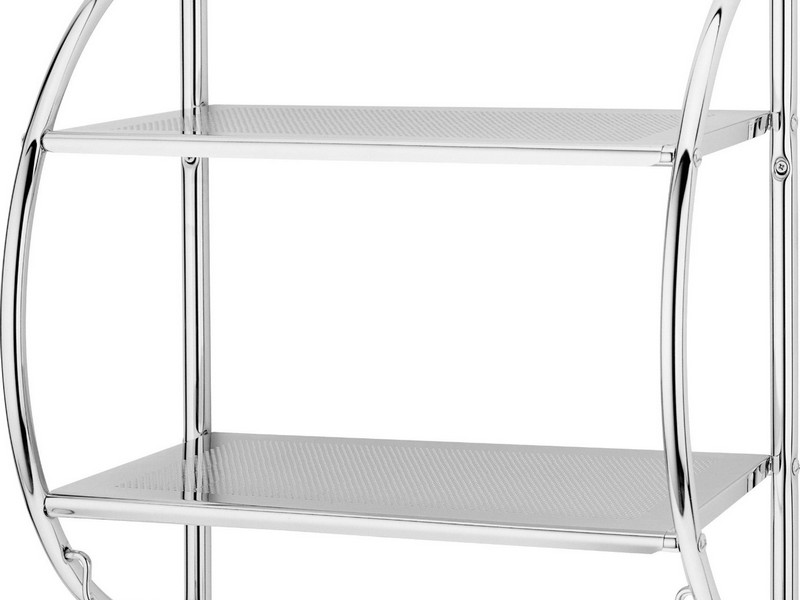 Chrome Bathroom Shelving Unit