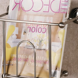 Chrome Magazine Rack Bathroom