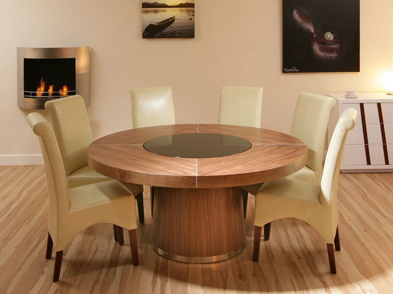 Circular Dining Table With Lazy Susan