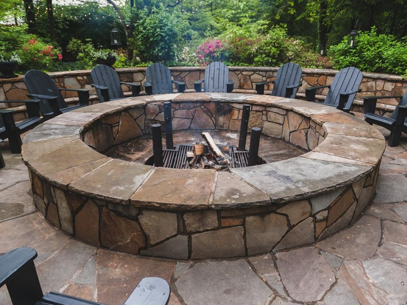 Circular Stone Fire Pit