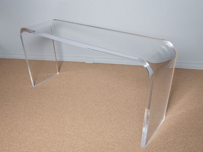 Clear Acrylic Console Table