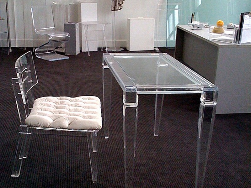 Clear Acrylic Vanity Table