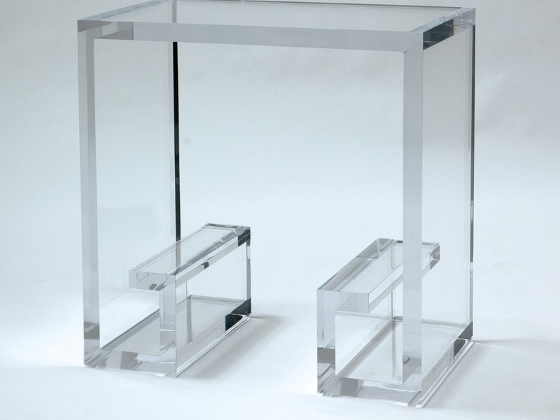 Clear Lucite End Tables