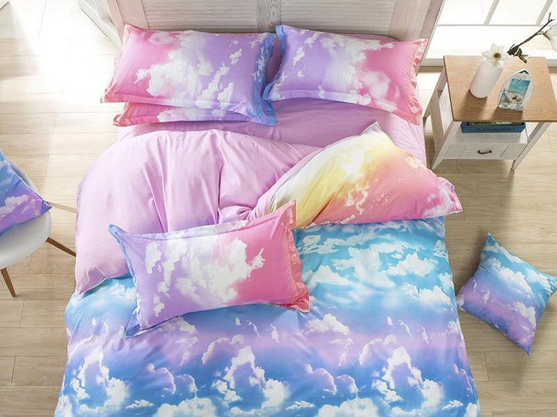 Cloud Print Bed Sheets