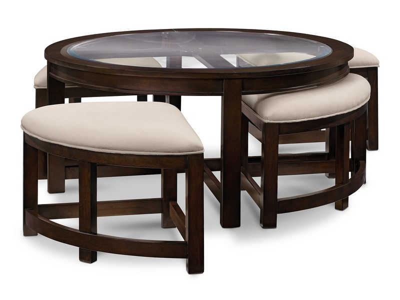 Cocktail Table With 4 Stools