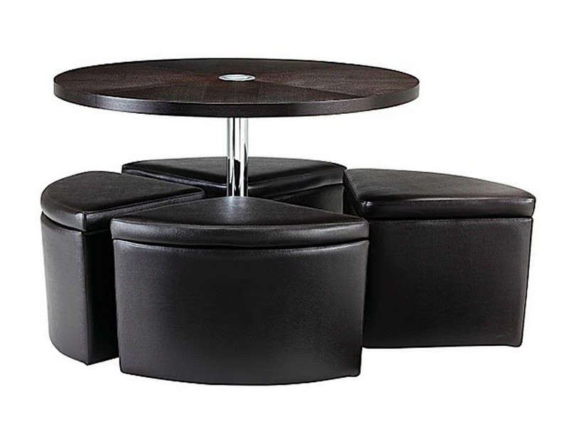 Coffee Table With Ottoman Chairs