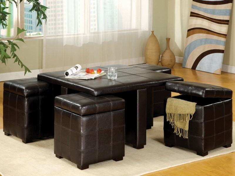 Coffee Table With Ottoman Stools
