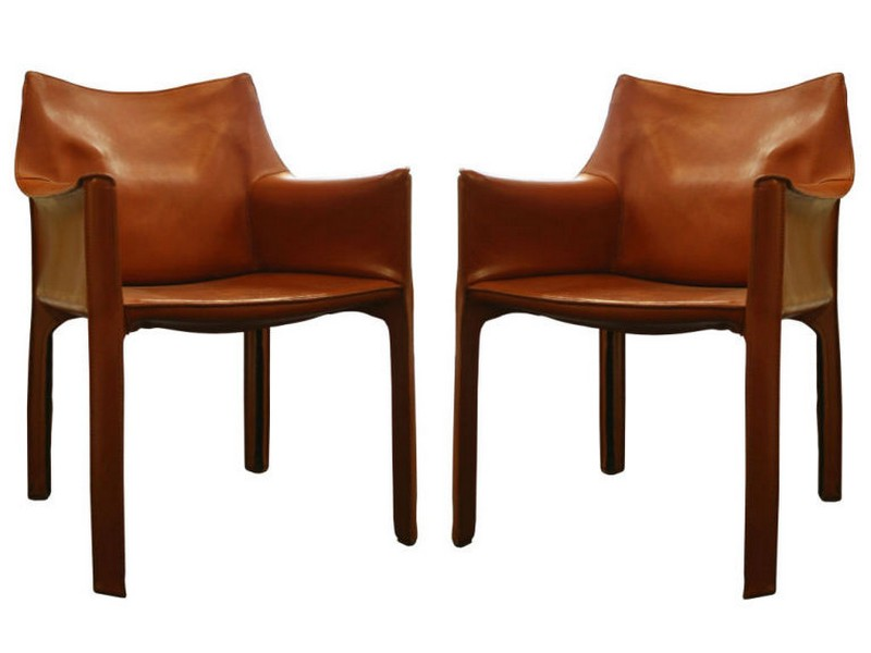 Cognac Leather Dining Chair
