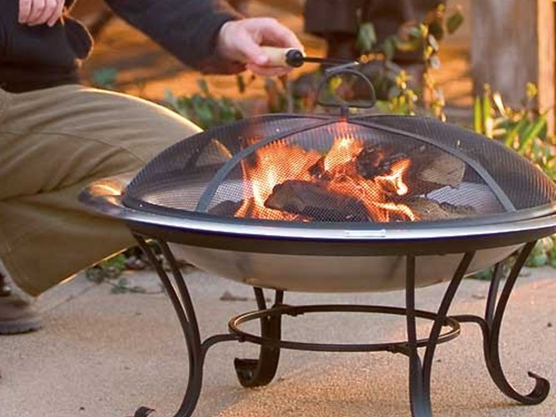 Coleman Fire Pit On Wheels