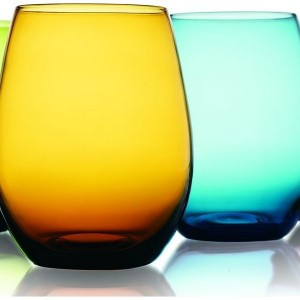 Colored Stemless Wine Glasses