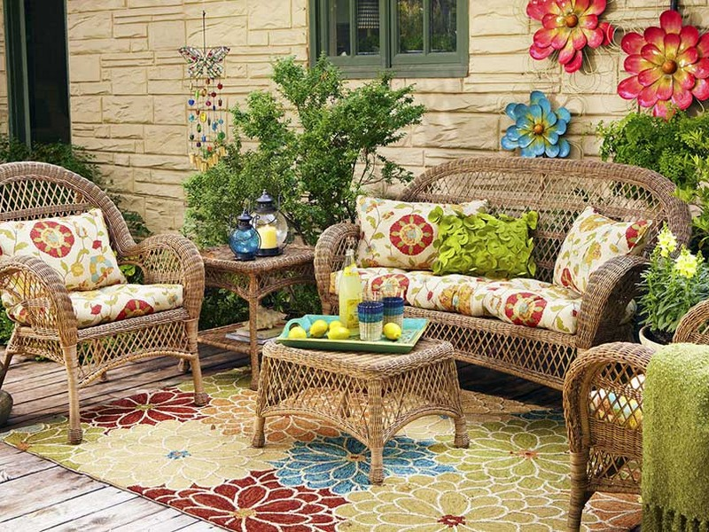 Colorful Outdoor Rugs Patios