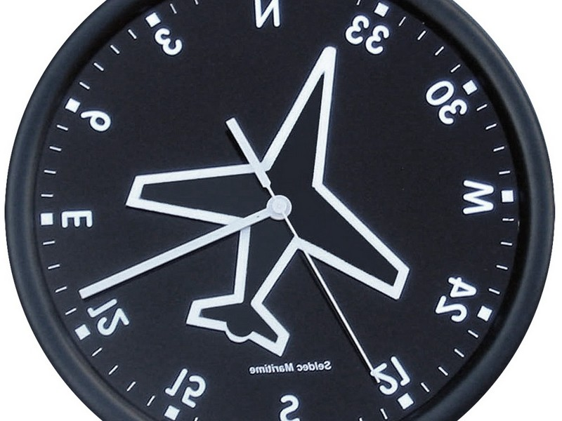 Compass Wall Clock