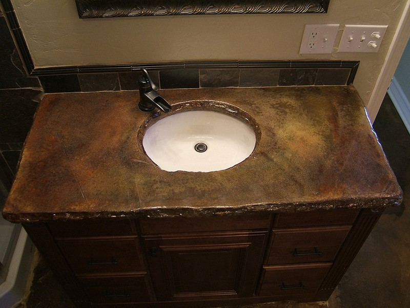 Concrete Bathroom Sink Countertop